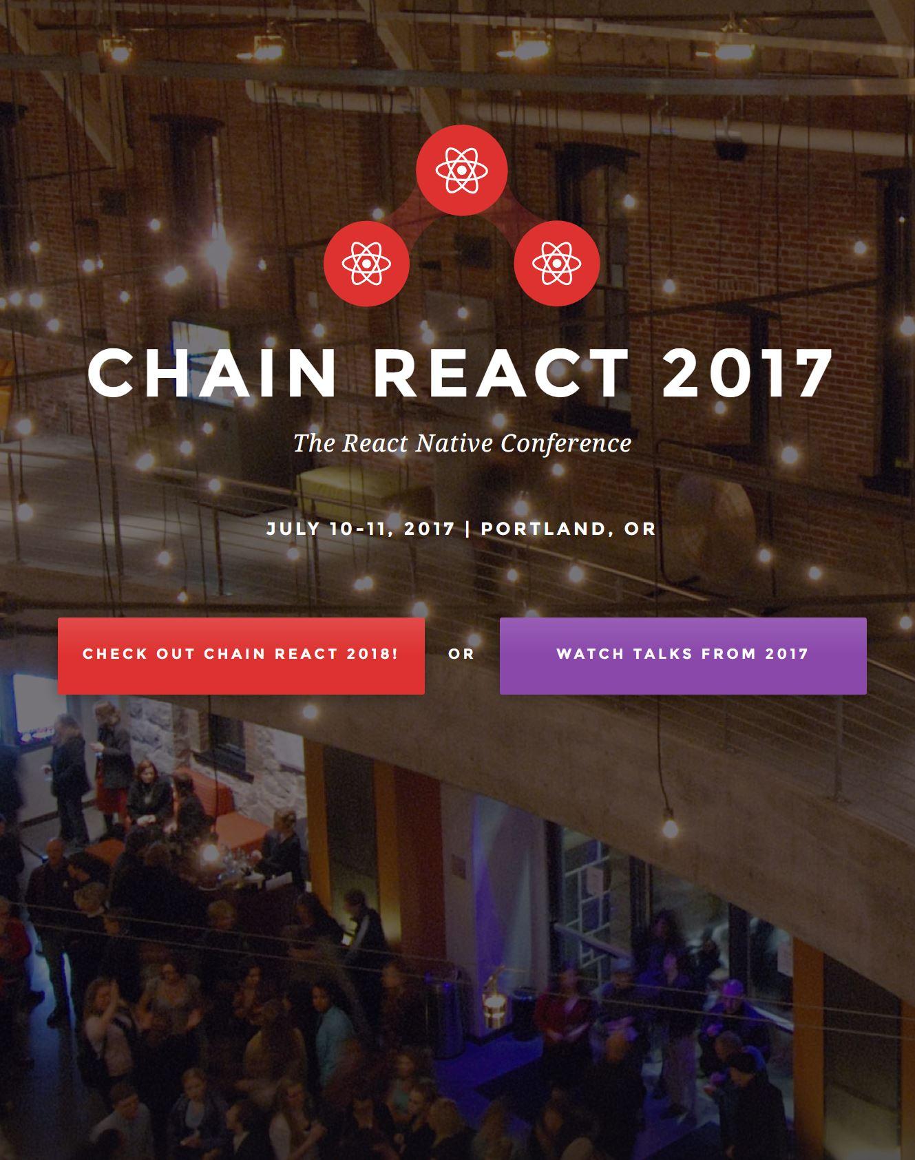 Chain React 2017