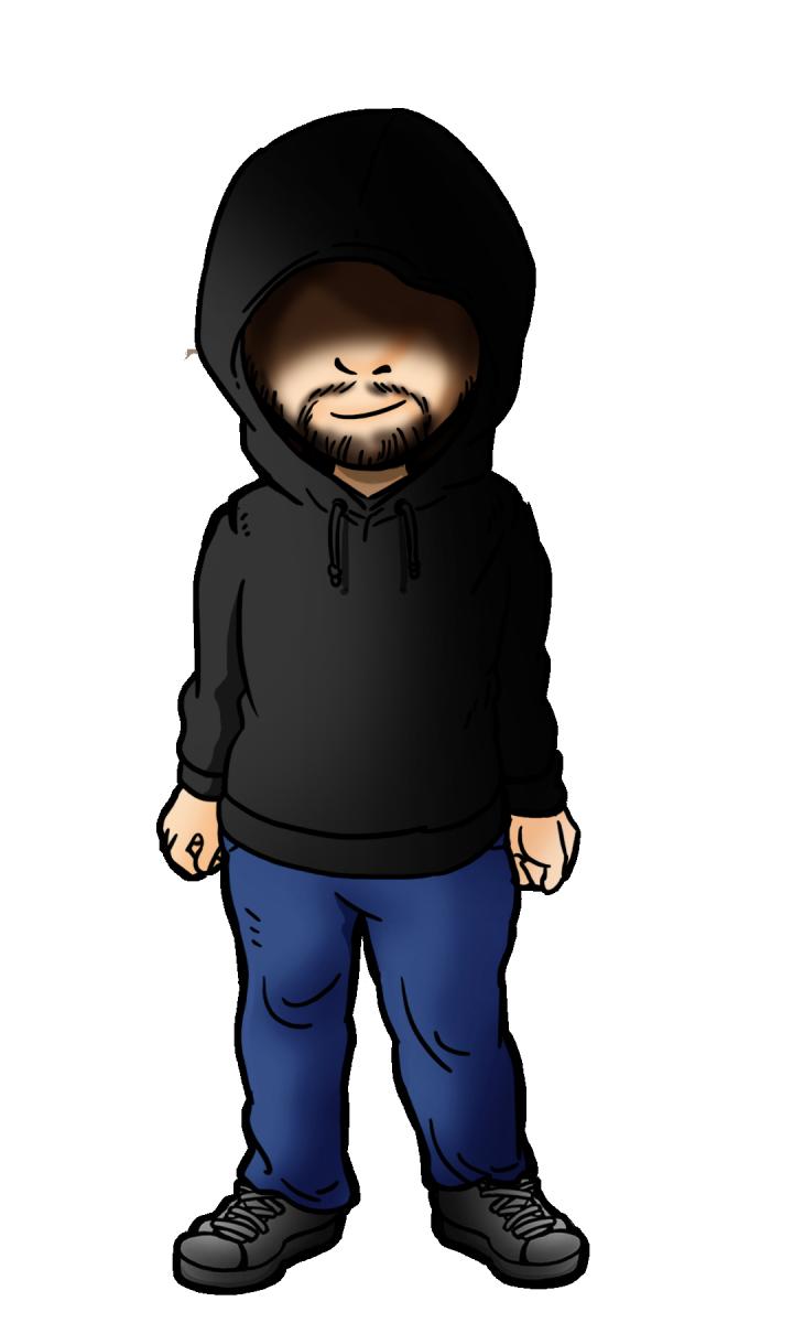 Gant in a hoodie