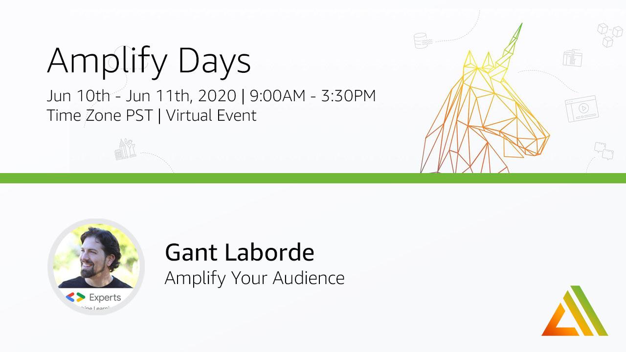 Amplify Days Speaker Card