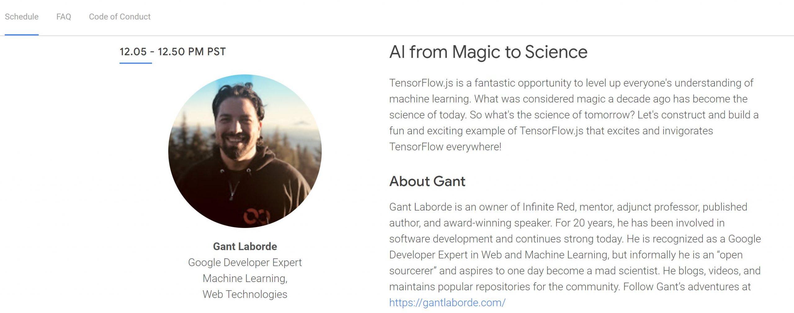 Gant speaking at Google